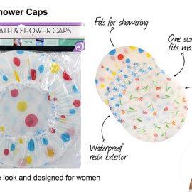 BATH & SHOWER CAPS 3P/PK DCA107
