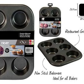 MUFFIN TRAY 6CUPS KT1153 NONSTICK