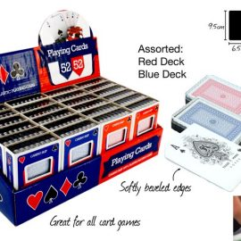 PLAYING CARDS W/CASE PY622