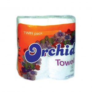 ORCHID TWIN PK K/TOWEL