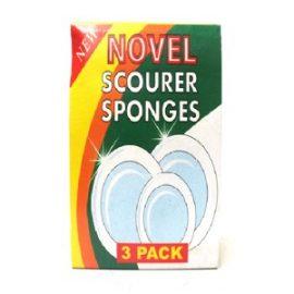 NOVEL SCOURER & SPONGE 3S