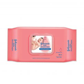 JOHNSONS BABY CLOTH WIPES FLIP TOP 80S